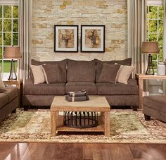 Thank you to all of our wonderful customers for making the Woodlands Sofa a favorite here at Gallery Furniture! This quality sofa is Made in Texas and offers all of the charm, comfort and casual styles that your family deserves! Join us TODAY at Gallery Furniture to shop this look and we will have it delivered and setup in your home within hours! | Houston TX | Gallery Furniture |