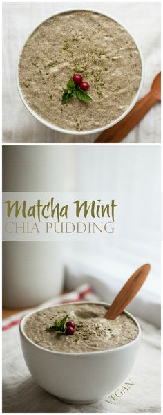 Produce On Parade - Matcha Mint Chia Pudding - A smooth and creamy pudding made with chia seeds and non-dairy milk starring bright green matcha and sweetened with agave nectar.