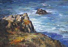 """""""Seaside Retreat"""" - Original Fine Art for Sale - © Kelvin Lei"""