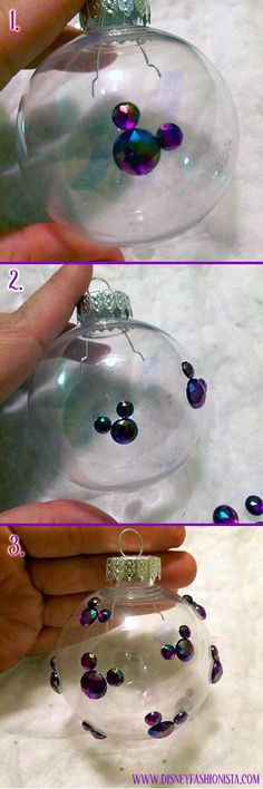 DIY Disney Ornaments That Sparkle