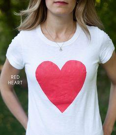 red heart / diy t-shirt