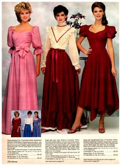 100 vintage prom dresses: See the hottest retro styles teen girls wore - Click Americana Vintage Long Dress, Vintage Prom, Retro Dress, Vintage Dresses, Vintage Outfits, Vintage Bridal, Vintage Ads, Retro Fashion 60s, 80s And 90s Fashion