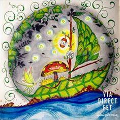 Floresta Encantada Barco Johanna Basford Sailing BoatColoring BooksAdult