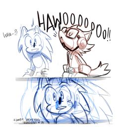 silly comic about two heroes howling! (because Sonic used to be half wolf on Sonic Unleashed lol) XD