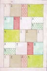 Easy quilt pattern--just an idea, no directions....