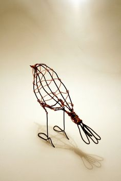 Hand made wire Robin by ZackMclaughlin on Etsy