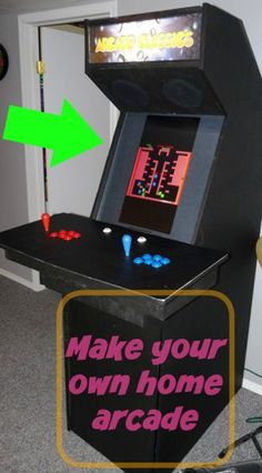 In this series I will walk you through all the steps required to make your own arcade cabinet and by the end you can have one of these in your own house. Arcade Parts, Make Your Own, How To Make, Own Home, Project Ideas, Projects, Game Rooms, Spare Room, Cabinet