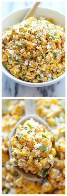 Oh I can't wait to make this corn dip. Looks delicious! Mexican Corn Dip - The traditional Mexican street corn is turned into the best dip ever. It's so good, you won't even need the chips here! Think Food, I Love Food, Food For Thought, Good Food, Yummy Food, Tasty, Mexican Corn Dip, Mexican Dishes, Mexican Food Recipes