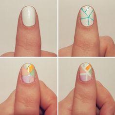 Coolsario: DIY Summer Mosaic Nail Art