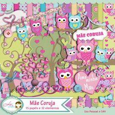 Kit Digital Mãe Coruja by Lu Ifanger