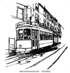 Stock Images similar to ID 34903534 - old tram trolley vector 01