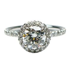 1.01 Carat Round Brilliant Diamond Engagement Ring #jbirnbach