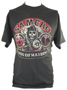 This black cotton tee is perfect for fans of Sons of Anarchy.