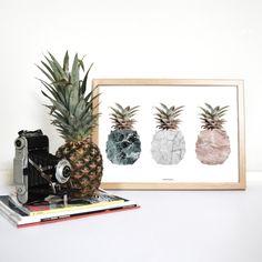 Pineapples Art Print by Vontrueba made in Spain on CROWDYHOUSE