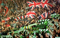 Celtic vs. Rangers Match in Glasgow..how I wish I made it to one of their games, your not even allowed to wear 'football' colors on game days at the bars