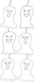 decorazioni fantasmi halloween