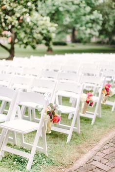 Mint julep cup ceremony decor | Christopher and Nancy http://southernweddings.com/2016/07/11/arkansas-wedding-weddings-christopher-nancy/
