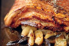 The Hairy Bikers' roast belly of pork recipe - Having this tonight!! Hungry already...