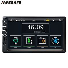 """2 Din 7"""" Car DVD GPS radio player Universal Bluetooth double din touch screen car stereo for Volkswagen VW golf 5 6 with free gi"""