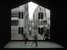 Klaus Grünberg's set for eraritjaritjaka, Théâtre de Vidy, Lausanne, 2004, with André Wilms