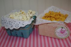 WHiTE LaCY PaPer DOiliesBerry Basket Liners by pinklemonadeparty, $6.00