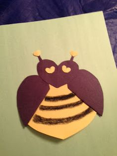 You will BEE crazy about making forest animals from hearts. <3