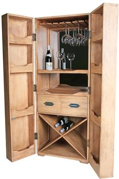 flugzeugtrolley als wein schrank multicase wood wine. Black Bedroom Furniture Sets. Home Design Ideas