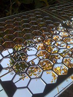 SALE ON AMAZON!!!!!  35mm x 2mm 100 pcs hexagon silver mirror glass mosaic til... http://www.amazon.com/dp/B017HZNJEY/ref=cm_sw_r_pi_dp_UqYixb050ZV98