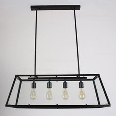 Contemporary Black Metal Frame Kitchen Island Linear Pendant Light with Clear Glass Shade Industrial Bathroom Lighting, Linear Pendant Lighting, Pendant Chandelier, Pendant Light Fixtures, Kitchen Lighting, Industrial Loft, Pendant Lights, Kitchen Spotlights, Ceiling Spotlights