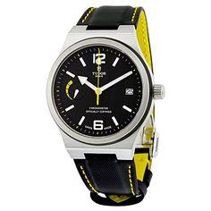 9b0af0ebbc79 Amazon.com  Tudor North Flag Automatic Black Dial Black Leather Mens Watch  91210NBKLS  Watches