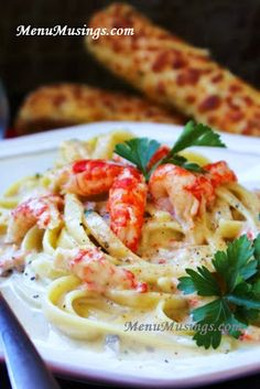 Crawfish Fettuccine... and awesome (and easy) recipe that embodies the spirit of the South.  Step-by-step photos.  Makes a ton, so its great for pot lucks and large gatherings.