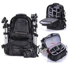 Multifunctional Deluxe DSLR Camera Backpack Travel Bag Case For Canon Nikon Sony