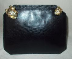 Stunning vintage Judith Leiber lizard clutch bag with frog clasps by VintageHandbagDreams on Etsy