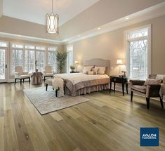 "Baldwin Hills Hardwood by Avalon Flooring featured in European Oak and 6"" Wide Planks #hardwoodflooring #oakflooring #traditionalhardwood #texturedhardwood #wideplank"