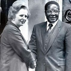 PEOPLE HANGING OUT WITH THE WRONG KIND OF PEOPLE - President_Robert_Mugabe with Lady Thatcher