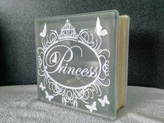 Princess Illuminated LED Glass Block by SprattPrints on Etsy