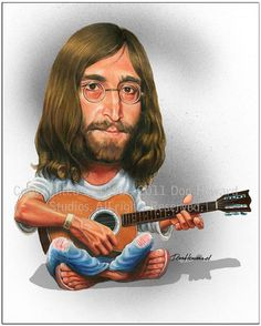 John Lennon Limited Edition Celebrity Caricature by Don Howard by DonHowardStudios on Etsy