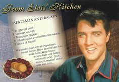 Elvis meatballs and bacon