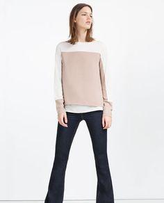 Imagem 1 de T-SHIRT BICOLOR COMBINADA da Zara