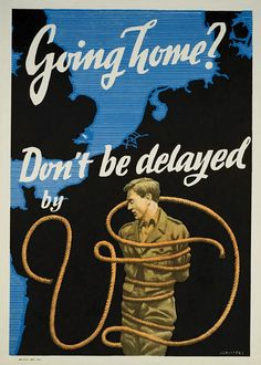 Vintage VD Propaganda Posters from WWII, 1940s