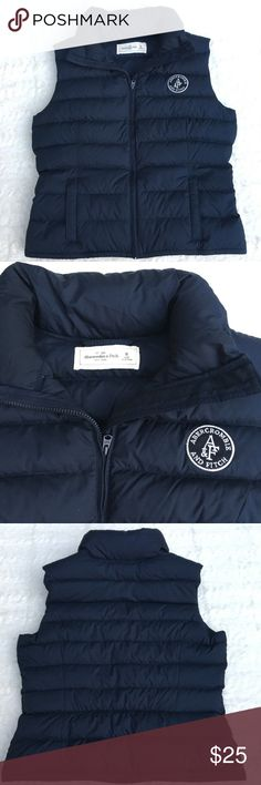Abercrombie & Fitch Puffer Vest Navy blue puffer vest in EUC! No rips or stains. Abercrombie & Fitch Jackets & Coats Vests