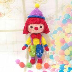 特别喜欢色彩缤纷的娃娃,GYMBO一出现,我就被吸引了,完全没抗拒力啊!😂😂 #amigurumi #gymbo #gymboree #crochetdoll #crochet #handmade #handcraft #yarn #haken #crocheting