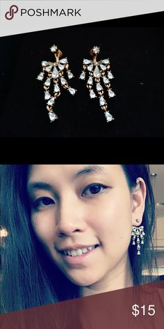 Zara Statement Ear Jackets Earrings Gold tine sparkly ear jackets that has a vintage vibe Zara Jewelry Earrings