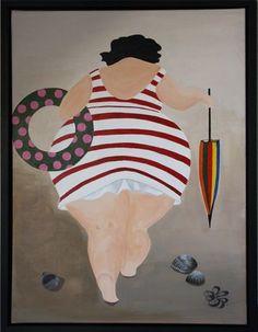 - - Home Accessories decor - Bilder Plus Size Art, Fat Art, Fat Women, Whimsical Art, Beach Art, Rock Art, Female Art, Painted Rocks, Art Projects