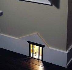 Mouse House or a fairy house - Hallway Night Light. Seriously this is just the coolest night light ever