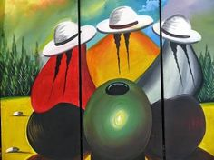 Resultado de imagen para cuadros etnicos indigenas Mexican Paintings, African Art Paintings, Peruvian Art, Wal Art, Mexico Art, Southwest Art, Pallet Art, Art For Art Sake, Native American Art