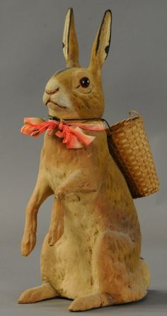TALL EASTER BUNNY CANDY CONTAINER : Lot 1263