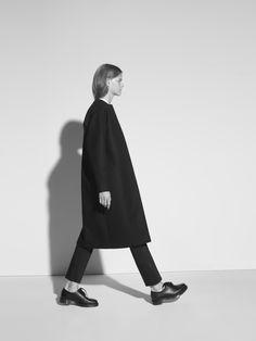 Sleek Black Coat - chic minimal style, minimalist fashion // This is Non