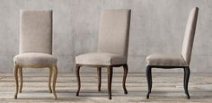 RH's Louis XV Cabriole Fabric Dining Chair