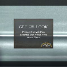 The cold never bothered us anyway... get this frozen look with Persian Blue Milk Paint accented with Winter White Glaze Effects! Add extra sparkle with Champagne Pearl Effects!